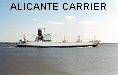 ALICANTE CARRIER  IMO7707889
